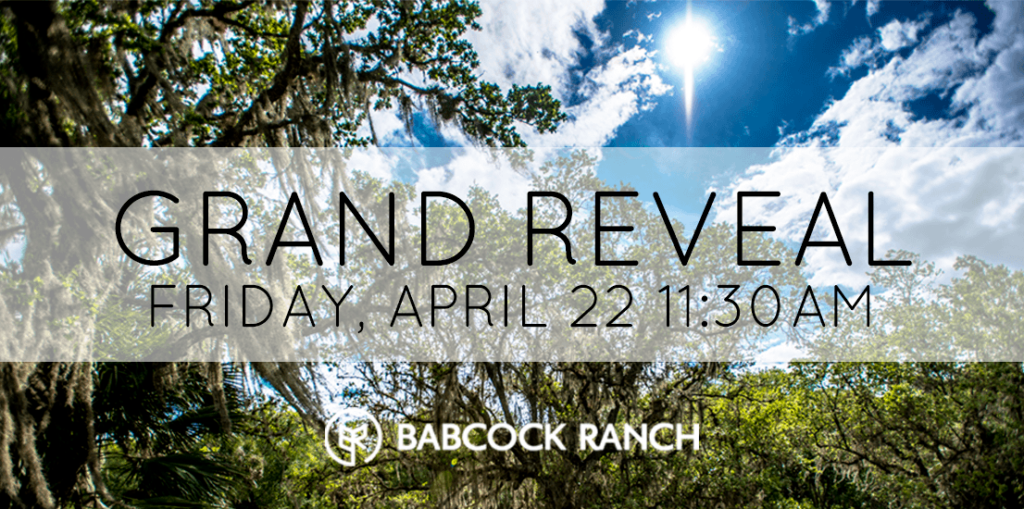 Watch the Grand Reveal of Babcock Ranch Live