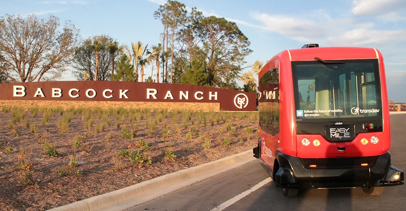 Babcock Ranch Testing 1 of 65 Driverless Shuttles Worldwide